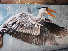 Lea Valley Heron Art