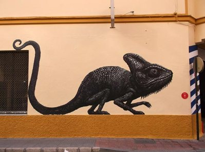 Lizard street art