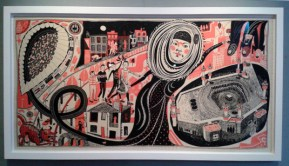 The Ashford Hijab screenprint on fabric by Grayson Perry