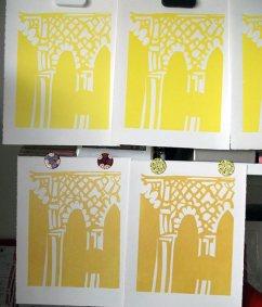 Linocut 1 block printed