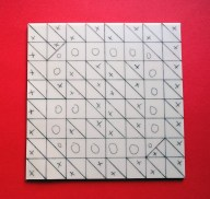 Letter G linocut design; marked up block © Catherine Cronin