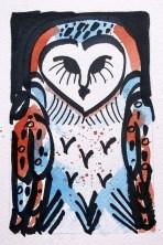 Barn Owl - watercolour 4 © Catherine Cronin