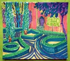 Alhambra Garden 2, marker pen © Catherine Cronin