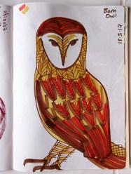 Barn Owl, marker pen © Catherine Cronin