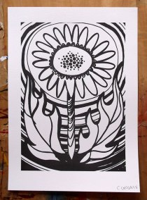 Photo-stencil screenprint © Catherine Cronin