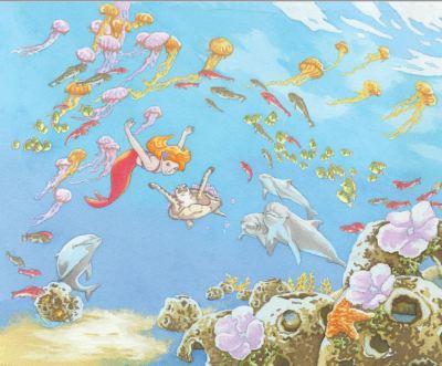 Mermaid in Rehoboth Bay art