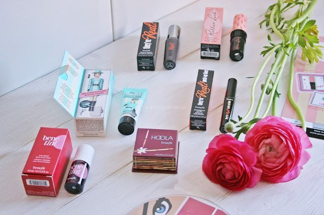 benefit cosmetics minitallas hoola, they're real, porefessional, benetint, roller lasr, travel sizes, price
