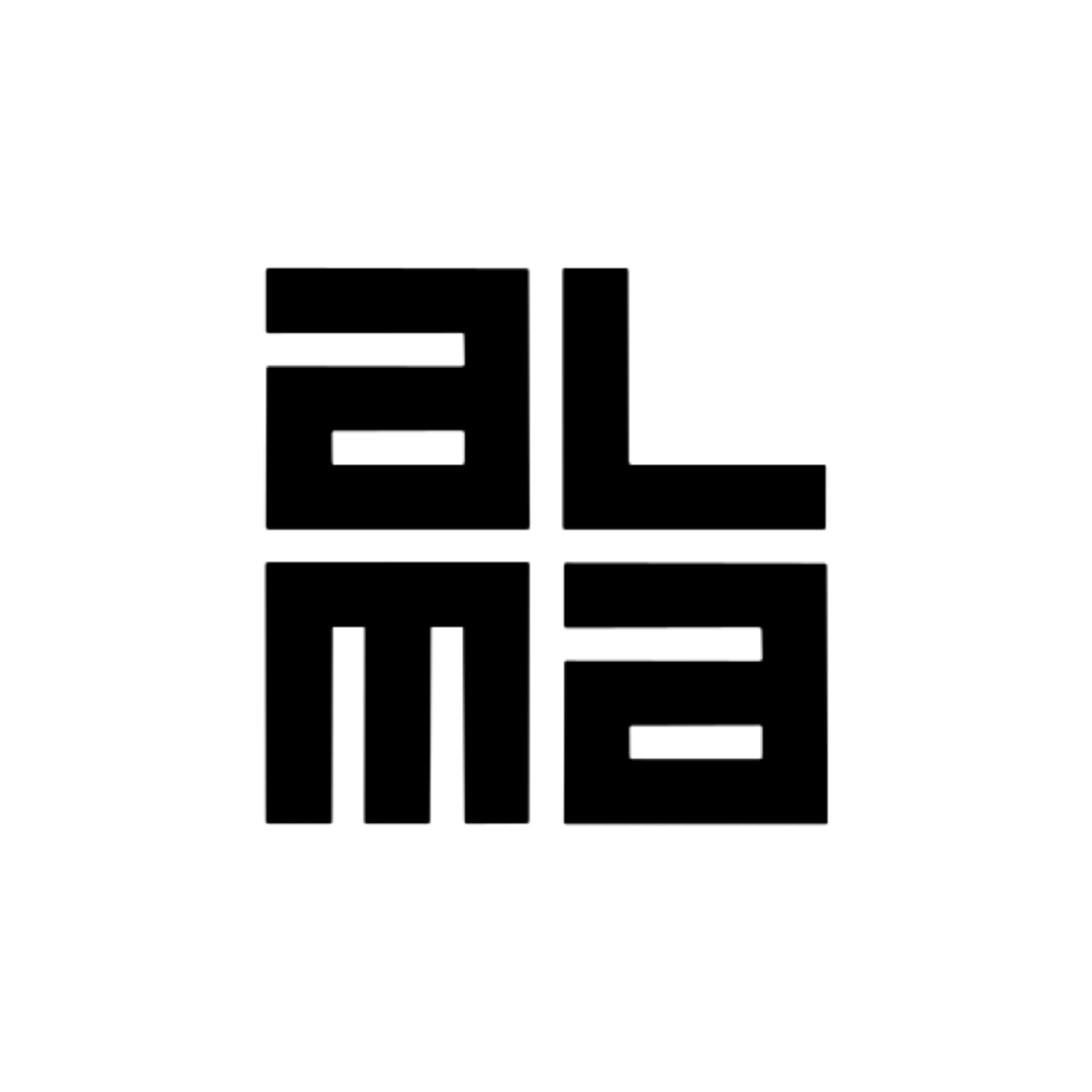 Alma media logo black and white transparent png