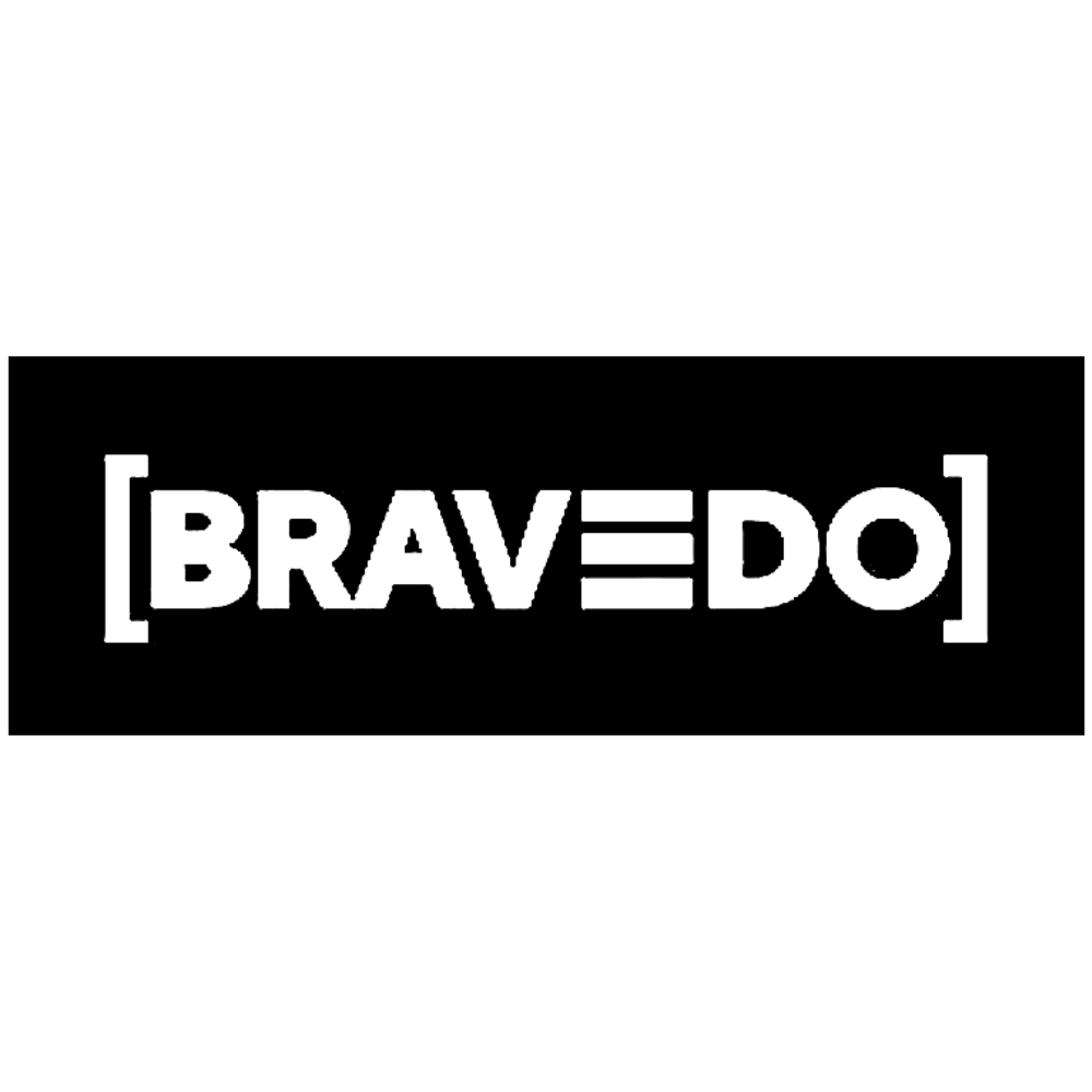 Bravedo logo black and white transparent png