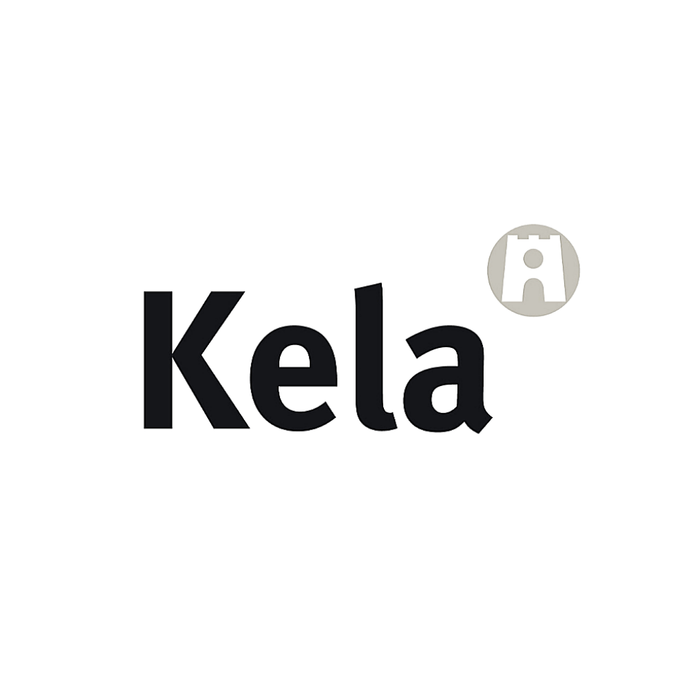 Kela logo black and white transparent png