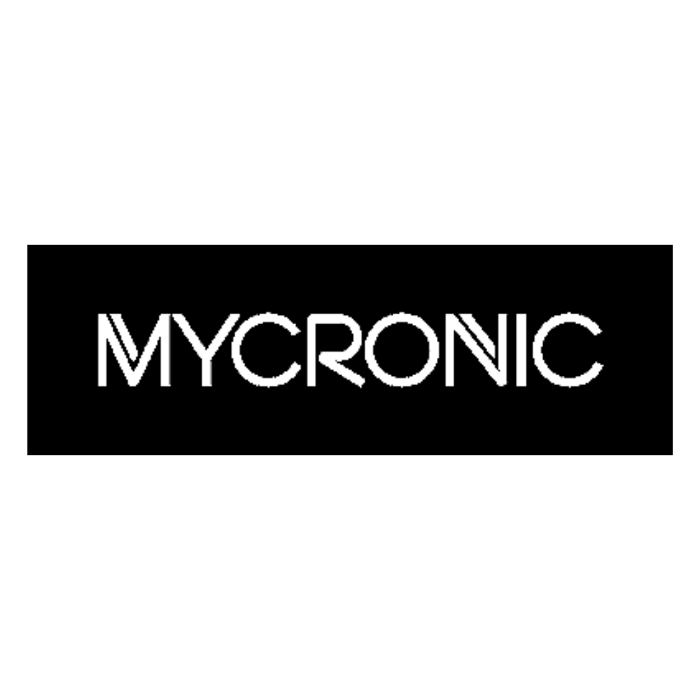 Mycronic logo black and white transparent png