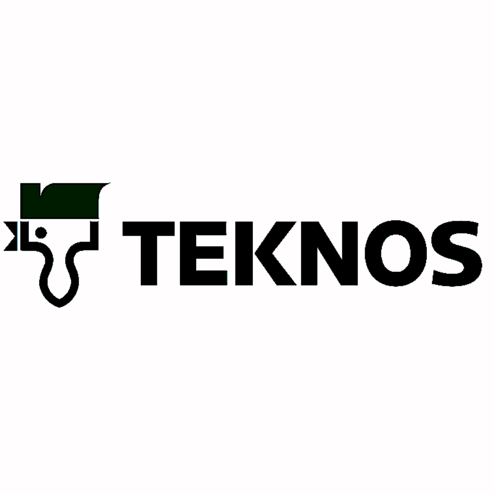 Teknos paintbrush logo black and white transparent png