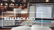 Research and monitoring in pr