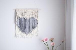 heart non weaving wall hanging