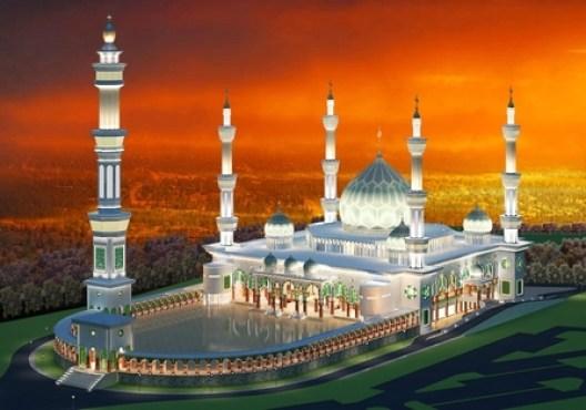 denah masjid madani