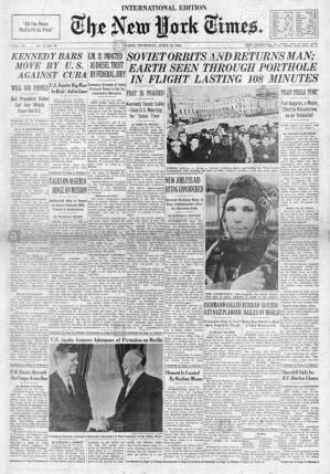 Yuri Gagarin NY Times