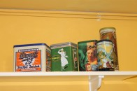 Vintage tins in kitchen