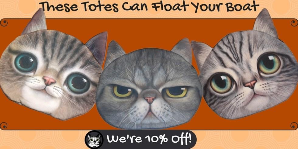 CatBagz.com Cat Totes Are Now 10% Off!