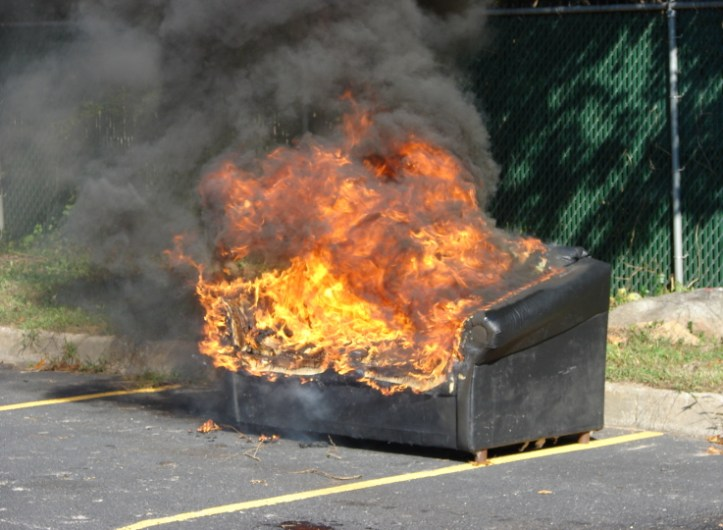 Sometimes a Couch On Fire Is Just a Couch On Fire