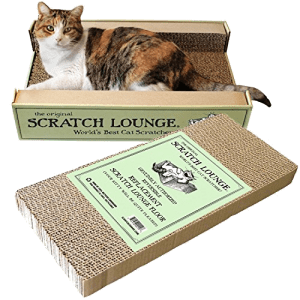 The Original Scratch Lounge is the first 3-sided scratcher that your cat can use as a scratch post, and a place to lounge and sleep.
