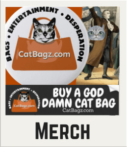 Not big into bags with cat faces on it? Maybe you are a fan of the things we do and say? Here's where you can get some swag to show it off.
