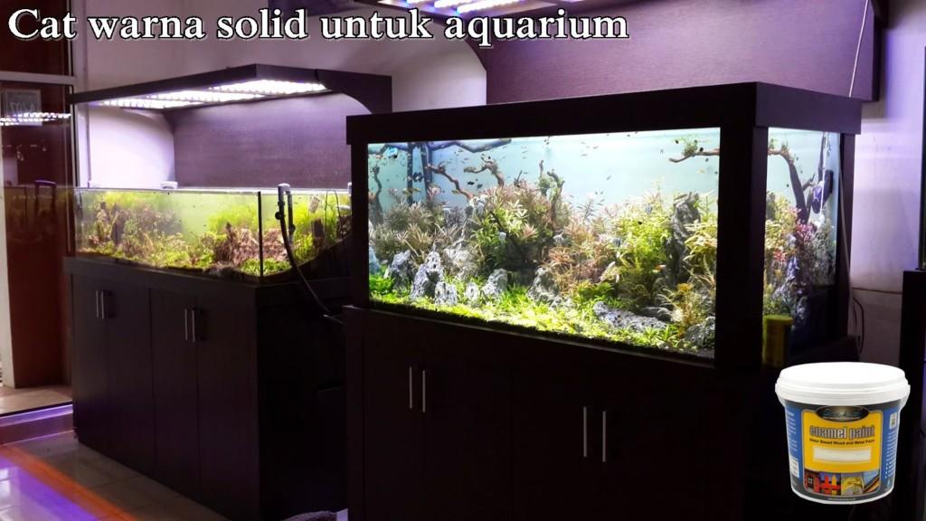 Cat Kayu Warna Solid Untuk Aquarium