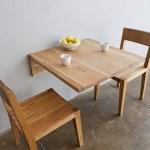 Meja kayu unik lipat melayang Sumber Tredir