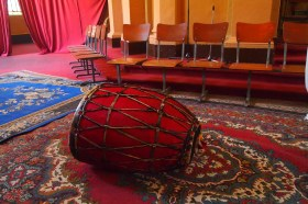 a drum played in church services