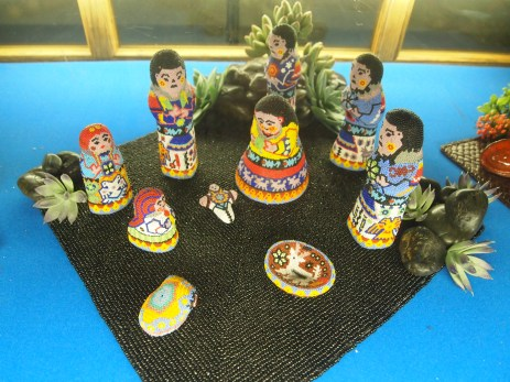 Mexico - glass beads on terra cotta