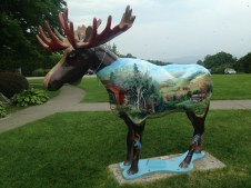 Painted moose in Bennington, VT
