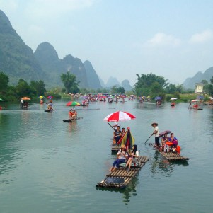 View of the Yulong River from Dragon Bridge