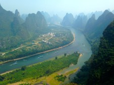 view of Li River from Xianggong Hill