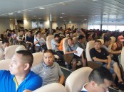 all Chinese people, except me, on board the ferry