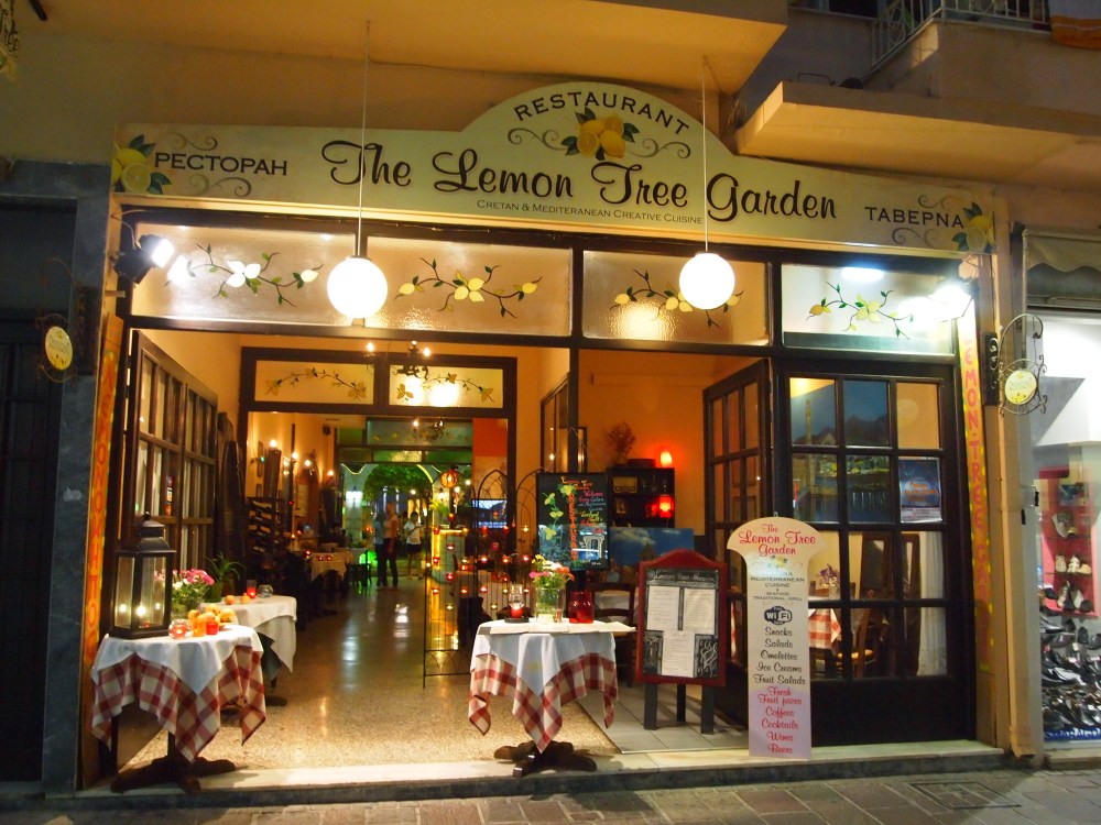 last night in rethymno, a protest, & dinner at the lemon tree garden (4/6)