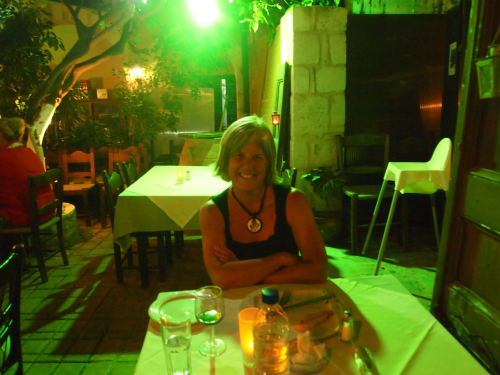 last night in rethymno, a protest, & dinner at the lemon tree garden (6/6)