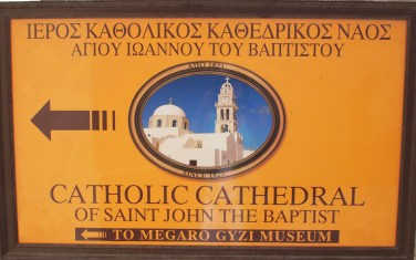 the Catholic Cathedral of Saint John the Baptist in Fira, Santorini