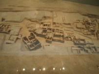 a model of Ancient Akrotiri