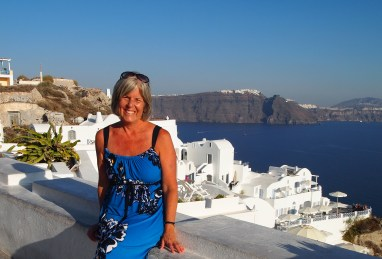 sundress in Santorini