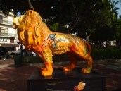 Painted lion in Ponce
