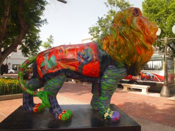 another painted lion in Ponce