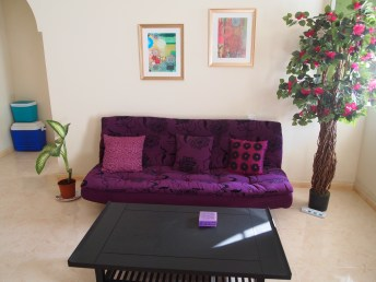 """my wanna-be """"garden room"""" with its fake plants (the one on the left is real)... :-) Nizwa, Oman"""