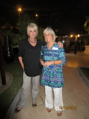 Joanna Lumley and me at the Radisson Blu in Muscat, Oman