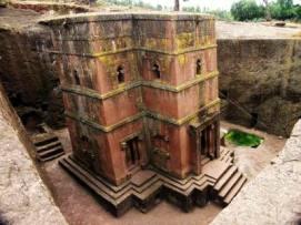 rock-hewn church at Lalibela, Ethiopia