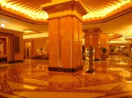 the lobby of Emirates Palace