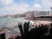 the corniche in Alexandria, Egypt