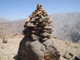 Cairns on Jebel Shams, Oman