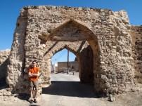 Alex at the gate to Al Munisifeh