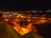 the view of the Sultan Qaboos Highway from the terrace of the Park Inn