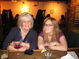 Me and Sarah drinking some wine in Richmond