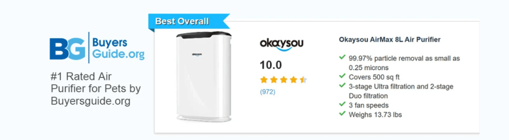 Okaysou AirMax 8L review: air purifier for pet odor